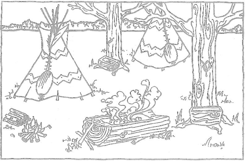 native american coloring pages for children - Native American Coloring Pages