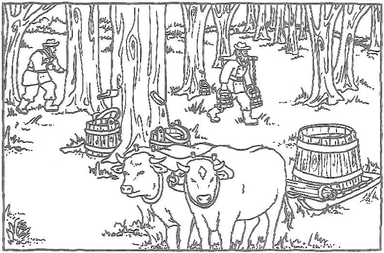 pioneer coloring pages - pioneer life colouring pages